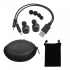 Cwxuan Wireless Bluetooth v4.2 Stereo In-Ear Headset (1 Pair) - Black