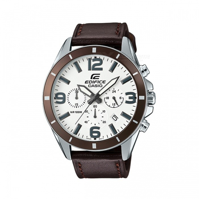 Casio Edifice EFR-553L-7BVUDF Analog Watch - Silver/Brown(Without Box)