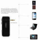 2.4GHz Wireless Bluetooth Auto MP3 Audio Player - Schwarz + Silber