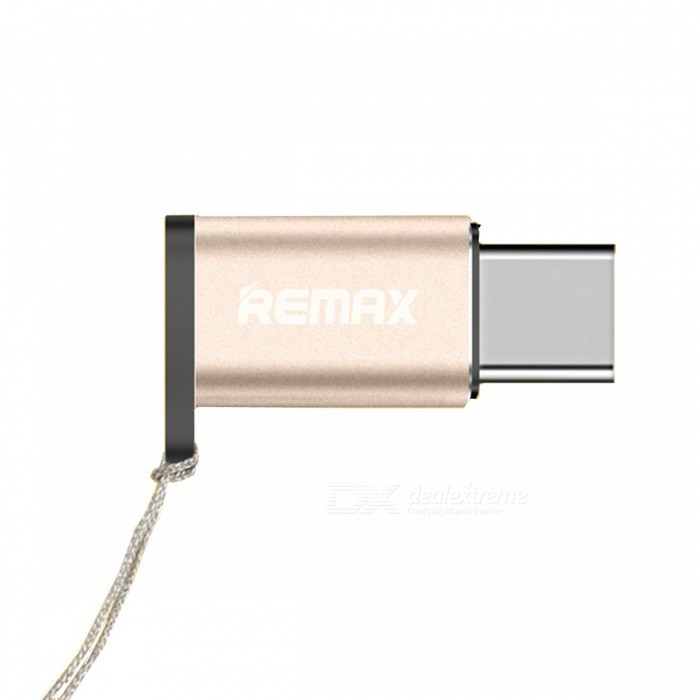 ... REMAX OTG Micro USB to Type-C Adapter for Fast Charging - Golden ...