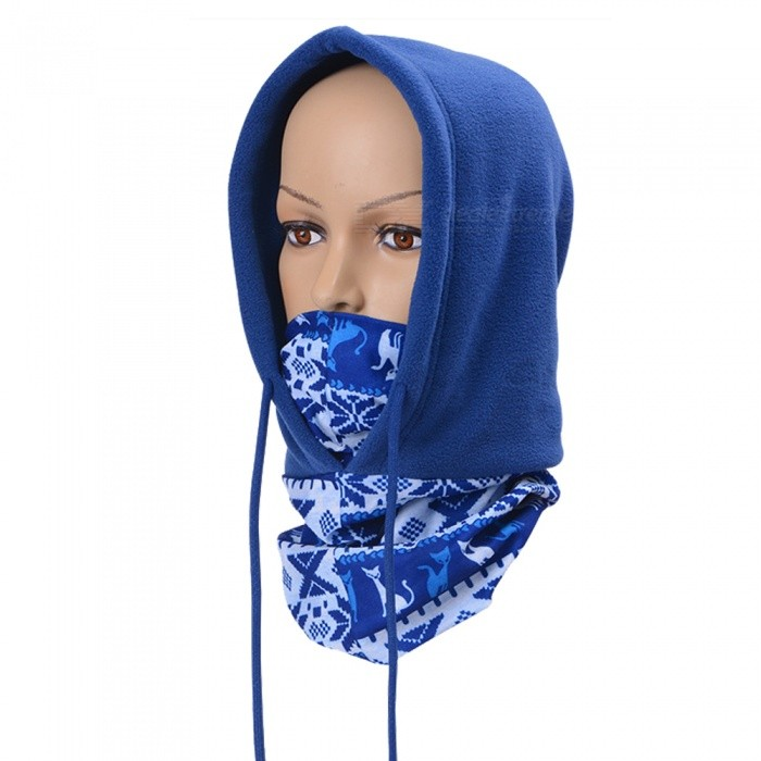 Buy Polar Fleece Warm Head Mask for Outdoor Cycling - Blue with Litecoins with Free Shipping on Gipsybee.com
