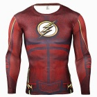 Outdoor-Sports-3D-Flash-Pattern-Quick-Drying-Sshirt-Red-(XXL)