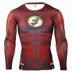 Outdoor-Sports-3D-Flash-Pattern-Quick-Drying-Sshirt-Red-(L)