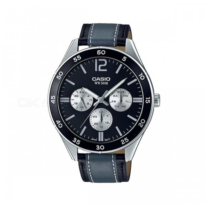 Casio MTP-E310L-1A1VDF Analog Watch - Silver + Black (Without Box)