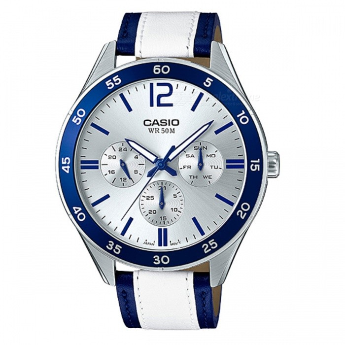 Casio MTP-E310L-2AVDF Analog Watch - Silver + Blue (Without Box)