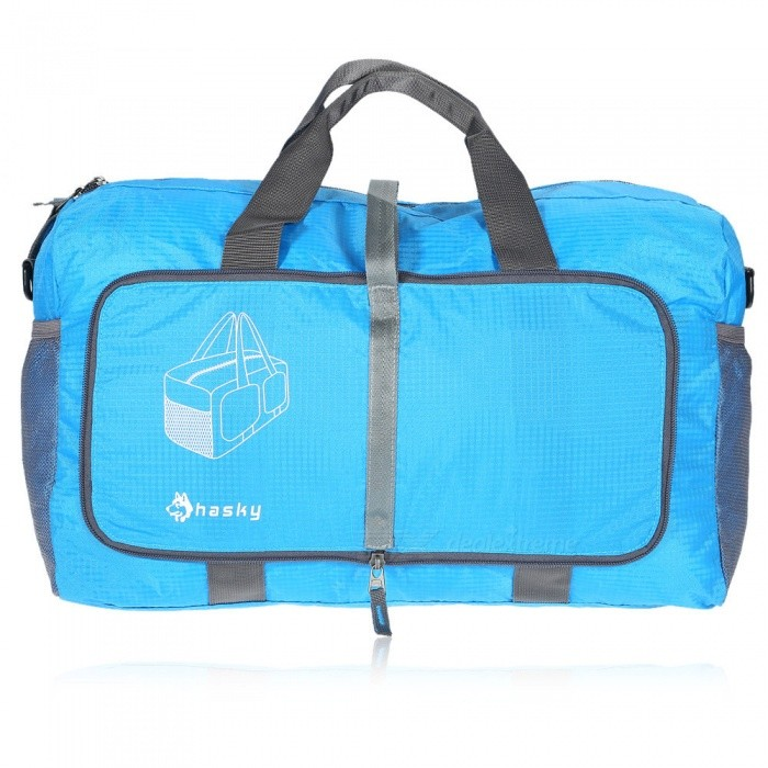 Buy Hasky Multi-function Folding Nylon Bag for Travel Outdoors - Blue with Litecoins with Free Shipping on Gipsybee.com