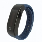 SMAWATCH 8002 Heart Rate Monitoring Smart Bracelet - Black + Blue