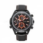 CAGARNY-6825-Waterproof-Casual-3-Sub-dials-Mens-Quartz-Watch-Black