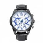 CAGARNY-6826-Waterproof-3-Sub-dials-Mens-Quartz-Watch-Black-2b-Blue