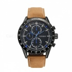 CAGARNY-6828-Fashion-3-Sub-dials-Mens-Quartz-Watch-Business-Brown