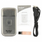 KM-5088 Portable Mini USB Rechargeable Electric Shaver - Silver