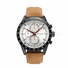 CAGARNY-6828-Fashion-3-Sub-dials-Mens-Quartz-Watch-Brown