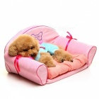 Aristocratic-Comfortable-Pet-Sofa-Bed-w-Mat-Pink