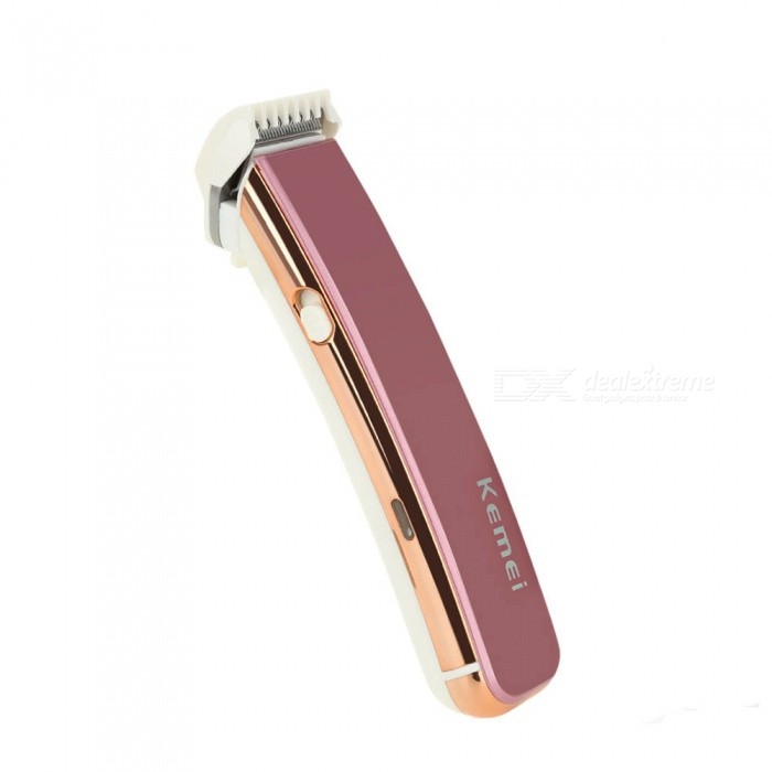 Kemei KM-621 Electric Rechargeable Hair Trimmer - Pink