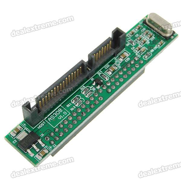 "2.5"" 44 Pin Female IDE to SATA Male Fast Chips Adapter - Blue"