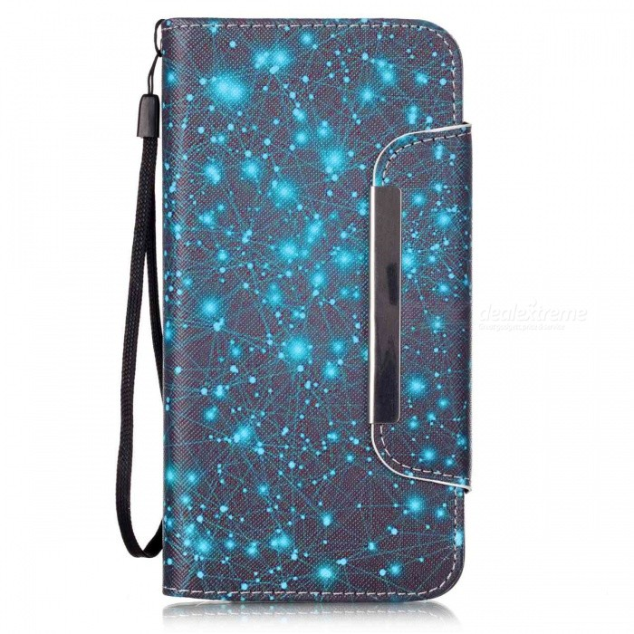 BLCR Constellation Pattern Leather Wallet Case for IPHONE 6 / 6S PlusLeather Cases<br>Form  ColorMulticolor (D45)Quantity1 DX.PCM.Model.AttributeModel.UnitMaterialPU + TPUCompatible ModelsIPHONE 6S PLUS,IPHONE 6 PLUSStyleFlip OpenDesignMixed Color,With Stand,Card Slot,With StrapPacking List1 x Case1 x Strap<br>