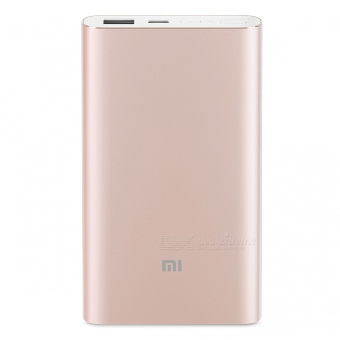 Buy Xiaomi 10000mAh Mobile Power Supply (High Version) - Golden with Litecoins with Free Shipping on Gipsybee.com