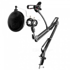 Adjustable-Desk-Recording-Microphone-Stand-with-Phone-Holder