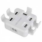 BSTUO 4 ports USB2.0 5V 6A Chargeur w / Phone Holder - Blanc (fiches américaines)