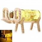 YouOKLight-Creative-Handmade-Glass-Bottle-Wood-Elephant-Light-Yellow