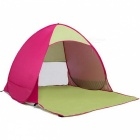 Outdoor-Portable-Automatic-Pop-Up-2-Person-Beach-Tent-Reddish-Purple