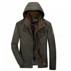 jeep Rich Men's Loose Casual Collar Coat Jacket - Army Green (M)