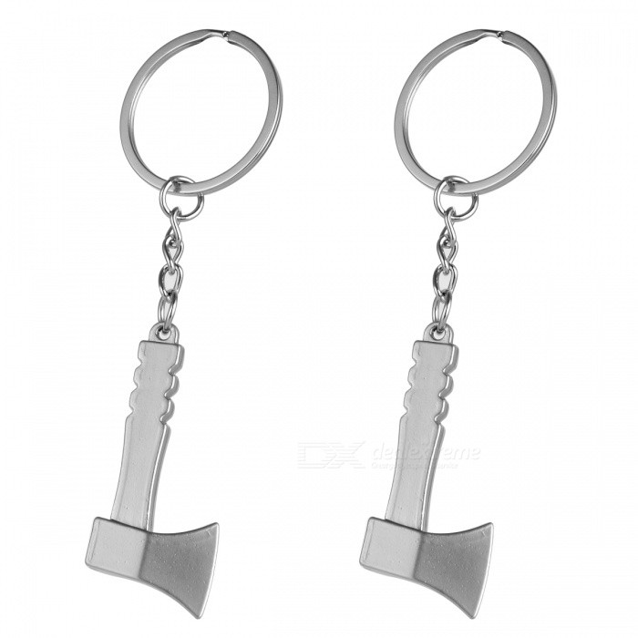 Mini Metal Tool Axe Shaped Key Chain (2 PCS)Keychains<br>Form ColorGolden + Silver WhiteModelH-387MaterialZinc alloyQuantity1 setPacking List2 x Keychains<br>