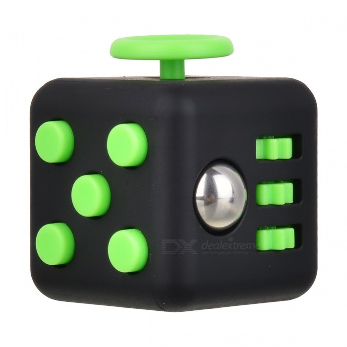 Buy Updated Version Fidget Cubic Toy for Focusing - Black + Green with Litecoins with Free Shipping on Gipsybee.com