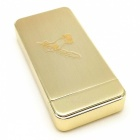 Feather Hand Carved Pattern USB Charging Electronic Lighter - Golden