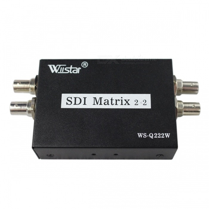 Wiistar 2-Port SDI Input to 2-Port SDI Output Converter- White + Black