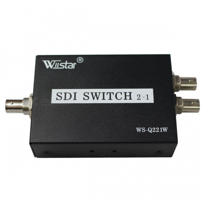 Wiistar 2-Port SDI Input to 1-Port SDI Output Converter- White + Black