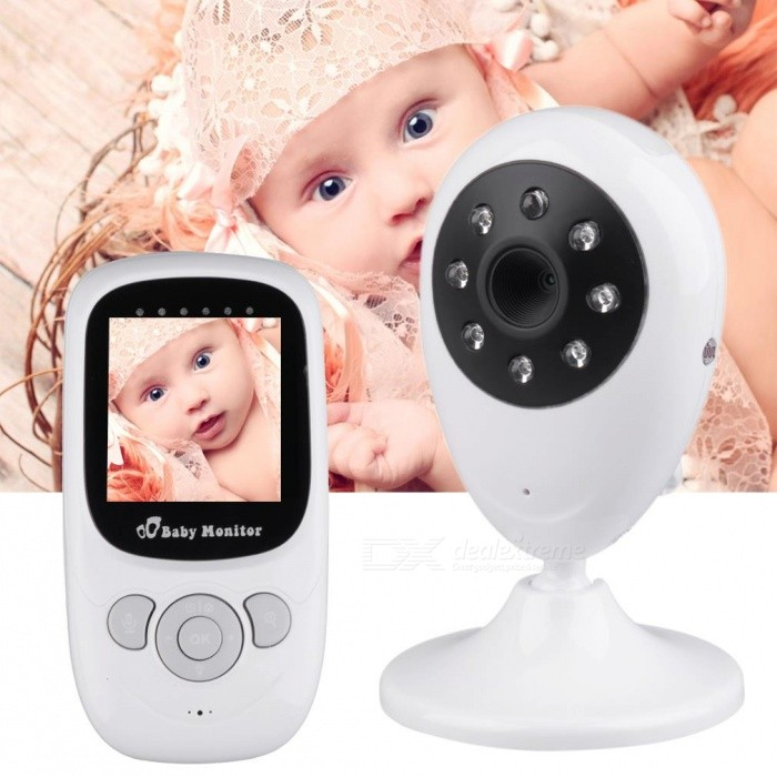 2.4quot LCD 2.4GHz Wireless Baby Monitor w/ Camera - white