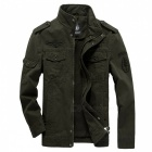 Mens-Military-Army-Causal-Jacket-Coat-Army-Green-(L)