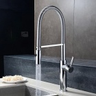 F-0849-Contemporary-Fashion-Chrome-Brass-Kitchen-Sink-Faucet-Silver