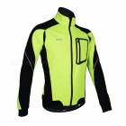 ARSUXEO 14-D Men's Long Sleeved Jacket for Cycling - Green (M)