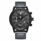 CURREN-8217-Fashion-Mens-Alloy-Case-Wrist-Watch-Black-2b-Grey