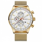 CURREN-8227-Fashion-Mens-Alloy-Case-Wrist-Watch-White-2b-Golden