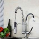 Kvalitní mosaz LED RGB Spring Pull-out / Pull-down Kitchen Faucet