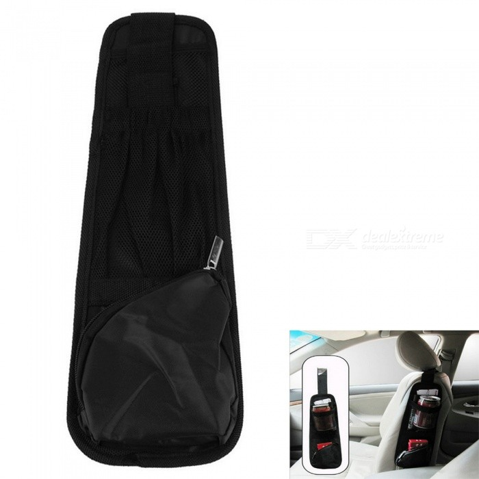 Waterproof Fabric Car Backseat Storage Bag Holder for Phone - BlackCar Holders and Organizer<br>Form  ColorBlackModelN/AQuantity1 DX.PCM.Model.AttributeModel.UnitMaterialClothShade Of ColorBlackMax. Load200 DX.PCM.Model.AttributeModel.UnitPacking List1 x Seat side pocket<br>