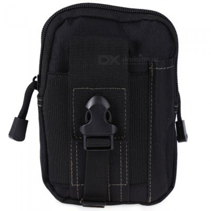 KICCY Tactical Molle Bag Belt Waist Pack for Samsung, IPHONE - Black
