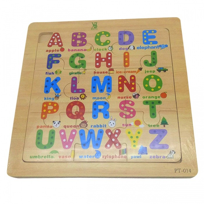 English Letters Jigsaw Puzzle Educational Toy for Kids