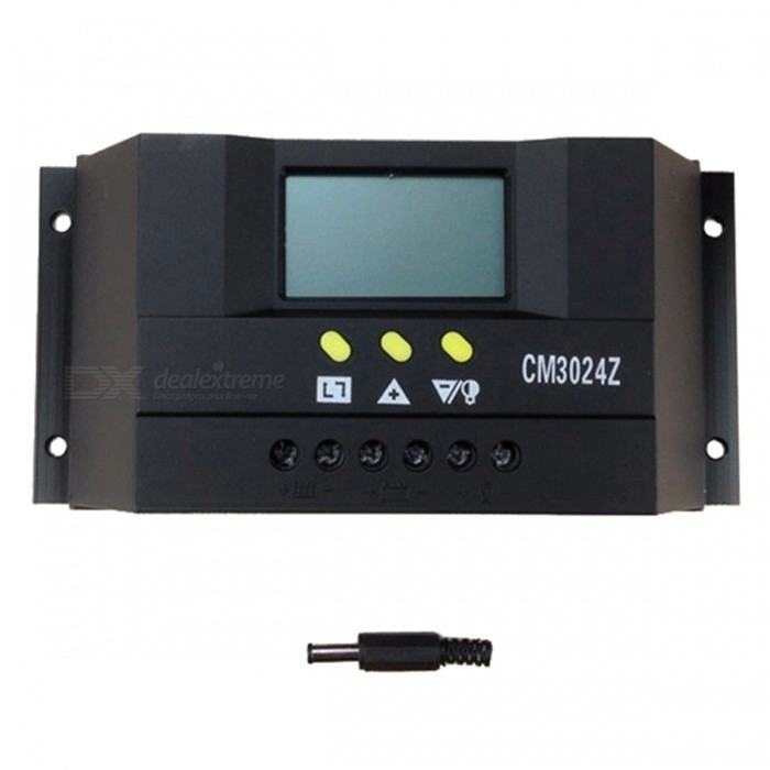 CM3024Z 30A PWM Solar Charge Controller w/ LCD Display - Black for sale in Bitcoin, Litecoin, Ethereum, Bitcoin Cash with the best price and Free Shipping on Gipsybee.com