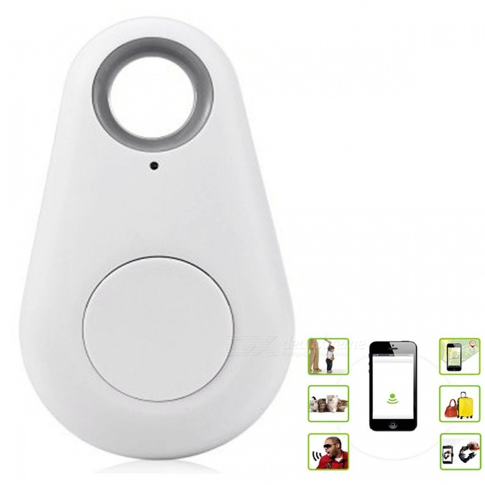 KICCY Water Drop Shaped Smart Bluetooth 4.0 Tracker GPS Locator- WhiteOther Gadgets<br>Form  ColorWhiteQuantity1 DX.PCM.Model.AttributeModel.UnitMaterialABSFeaturesiTag is a kind of Bluetooth 4.0 low energy consumption product which works through cTracking APP. iTag can connect users easy-lost &amp; valuable belongings together and works with smart phone to prevent lost. iTag is also a remote control of your smart phone camera for selfie. In addition, iTag can provide a last seen pin-drop on map to help you recover your items and search your cars in parking site.   1. Please download cTracing APP in the app store or Google play before using it.   2. Automatic alarm when it is beyond the effective range.   3. Take a selfie, it can capture the happiest moment easily.   4. Bluetooth version 4.0, ultra-thin design, easy to carry.   5. Rings plus vibration reminder alarms, multiple ringtones available.   6. Compatible with IPHONE 4S / 5 / 5S / 5C, IPAD MINI, IPOD TOUCH 5, IPAD 3 / 4, IPAD AIR and other cell phones support Bluetooth v4.0 and with Android 4.3 or above system.   7. Replaceable coin cell battery.   8. Low-power Bluetooth technology, batterys life is up to one year.   9. Positioning function allows you to see on the phone where your objects locate.   10. One cell phone can manage simultaneously up to eight anti-lost device.   11. Voice recording.Compatible ModelsIPHONE 4S / 5 / 5S / 5C, IPAD MINI, IPOD TOUCH 5, IPAD 3 / 4, IPAD AIR and other cell phones support Bluetooth v4.0 and with Android 4.3 or above system. , Cellphone , Tablet PC , IPHONE 5S , IPHONE 5C , IPADOther FeaturesBattery TypeCR2032 battery<br>Built-in Battery Capacity200mAhPacking List1 x Anti-lost device (1 x CR2032 battery, included)1 x English user manual<br>