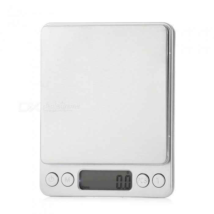 M-8008 2000g/0.1g 1.7 Screen High-precision Electronic Scales- SilverDigital Scales<br>Form  ColorSilverModelM-8008Quantity1 DX.PCM.Model.AttributeModel.UnitMaterialStainless steel + aluminum alloyScreen Size1.7 inchesMax. Weight2000gMin. Weight0.1gBattery Number2Packing List1 x Electronic scales2 x Trays2 x AAA Batteries1 x English manual<br>