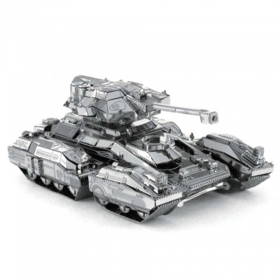 DIY Puzzle 3D Scorpion Tank Assemble Model Educational Toys - Silver