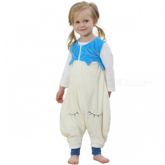 4700db67dbbe Cartoon Flannel Sleeping Bag for 13-24 Months Old Kids - Sky Blue ...