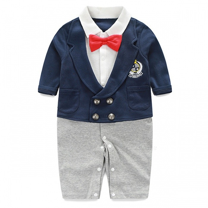 55dabc743 IDGIRL Boy Rompers Suit Newborn for 6~9 Months Baby Boy - Gray + ...