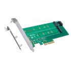 IOCREST-SI-PEX40117-PCIe-*-4-to-NGFF-SSD-2b-SATA-to-NGFF-Adapter-Card