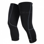NUCKILY-Bicycle-Riding-Fleece-Knee-Sleeve-Winter-Pads-Black-(L)