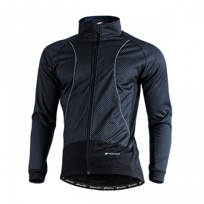 NUCKILY-Windproof-Long-Sleeved-Mens-Fleece-Cycling-Jacket-Black-(M)